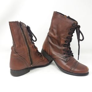 Steve Madden | Troopa Leather Lace Up Combat Boots